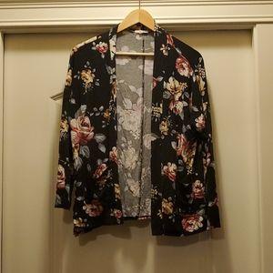 Maurice's - Black floral Cardigan 0X